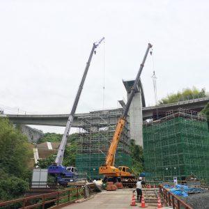 中部横断道吉原JCT工事