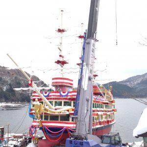 芦ノ湖遊覧船造船工事