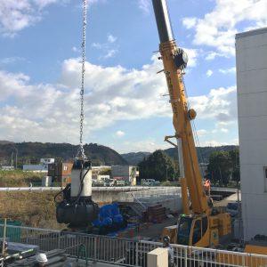 神島ポンプ場機械据付工事